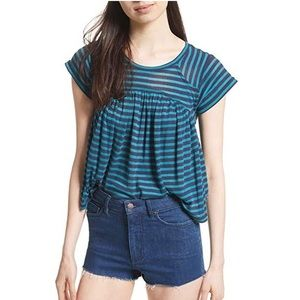 ✨Free People 🦋 JoJo Striped Casual Pullover Top